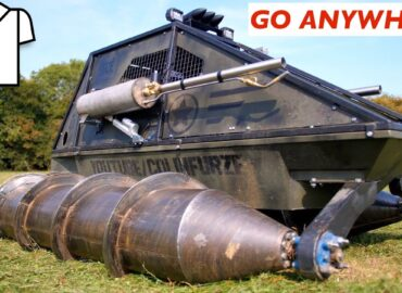 Британський шушпанцер з гарматою, вогнеметом і ракетами