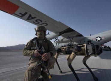 Роботи-собаки охороняють аеродроми ВПС США